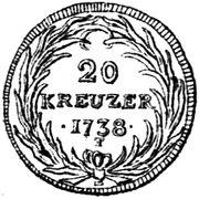 20 Kreuzer – revers