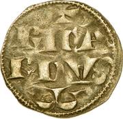 """Denier  - Richard Ier dit """"Coeur de Lion"""" -  avers"""