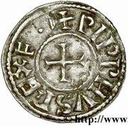Denier Pépin II d'Aquitaine – avers
