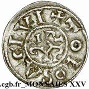 Denier Pépin II d'Aquitaine – revers