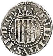 ½ real Philippe III – avers