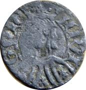 Dinero Pierre IV Saragosse – avers