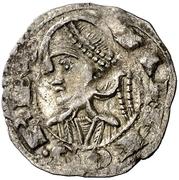 Dinero Alphonse II Jaca – avers