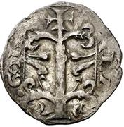 Dinero Alphonse II Jaca – revers