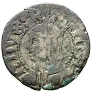 Dinero Ferdinand II Saragosse – avers
