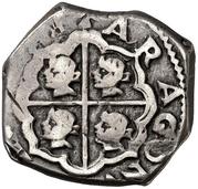 2 reales Philippe IV martelé – revers