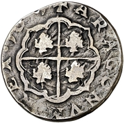 2 reales Philippe IV – revers