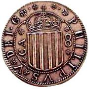 8 reales Philippe V – avers
