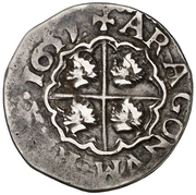 1 real Philippe IV – revers