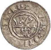 1 schilling Guillaume de Brandebourg (Koknese; bouclier régulier; croix gauche et crozier droite) – revers