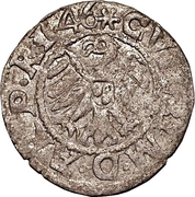 1 schilling Guillaume de Brandebourg (Koknese; bouclier régulier; croix droite et crozier gauche) – avers