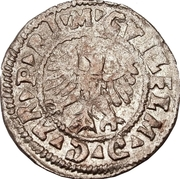 1 schilling Guillaume de Brandebourg (Koknese; grand bouclier; avec frontier) – avers