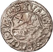 1 schilling Guillaume de Brandebourg (Koknese; grand bouclier; avec frontier) – revers