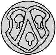 1 pfennig Thomas Schöning (Koknese) – avers