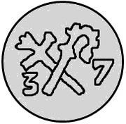 1 pfennig Thomas Schöning (Koknese) – revers