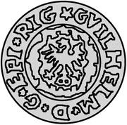 1 schilling Guillaume de Brandebourg (petit aigle) – avers