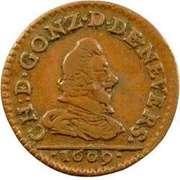 Denier-Tournois Charles Ier de Gonzague (Type 1) – avers