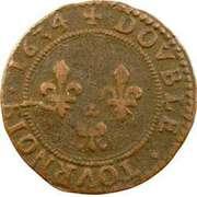 Double-Tournois Charles Ier de Gonzague (Type 7) – revers