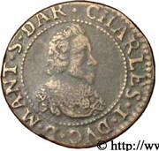 Double-Tournois Charles Ier de Gonzague (Type 4) – avers