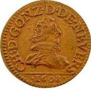 Double-Tournois Charles Ier de Gonzague (Type 3) – avers