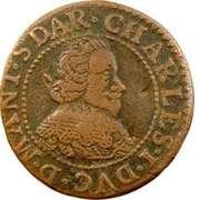 Double-Tournois Charles Ier de Gonzague (Type 12) – avers
