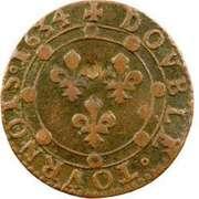Double-Tournois Charles Ier de Gonzague (Type 12) – revers