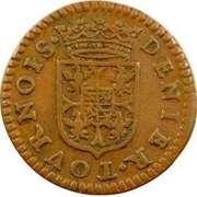 Denier-Tournois Charles Ier de Gonzague (Type 1) – revers