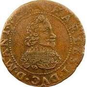 Double-Tournois Charles Ier de Gonzague (Type 14) – avers