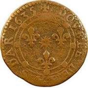 Double-Tournois Charles Ier de Gonzague (Type 13) – revers