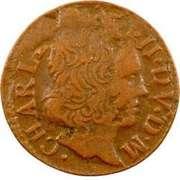 Denier-Tournois Charles II de Gonzague (Type 2) – avers