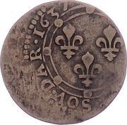 Double-Tournois Charles Ier de Gonzague (Type 19) – revers