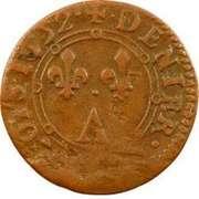 Denier-Tournois Charles II de Gonzague (Type 2) – revers