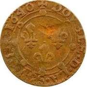 Double-Tournois Charles II de Gonzague (Type 21) – revers