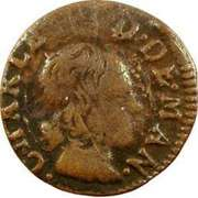 Denier-Tournois Charles II de Gonzague (Type 3) – avers