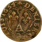 Denier-Tournois Charles II de Gonzague (Type 3) – revers