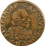 Double-Tournois Charles Ier de Gonzague (Type 6) – avers