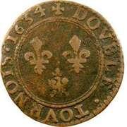Double-Tournois Charles Ier de Gonzague (Type 6) – revers