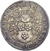 1 Thaler - Margaretha von der Marck-Arenberg (Deutz) – avers