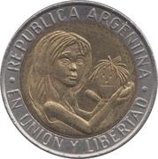 1 peso (Unicef) -  avers
