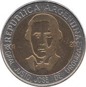 1 peso (Général Urquiza) -  avers