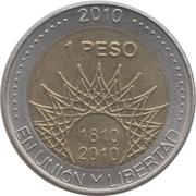 1 peso (El Palmar de Colón) -  revers