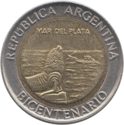 1 Peso (Mar del Plata) -  avers