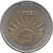 1 Peso (Mar del Plata) -  revers