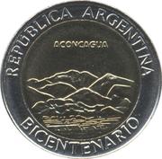 1 peso (Cerro Aconcagua) -  avers