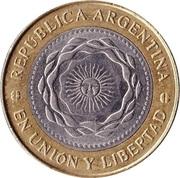 2 pesos (Révolution de Mai) -  avers