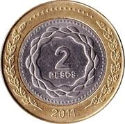 2 pesos (Révolution de Mai) -  revers