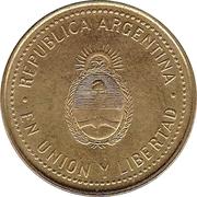 10 centavos (tranche lisse; magnétique) -  avers