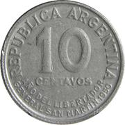 10 centavos San Martín -  avers