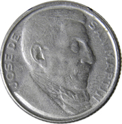 20 centavos San Martín – revers