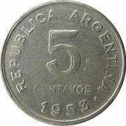 5 centavos San Martín -  revers